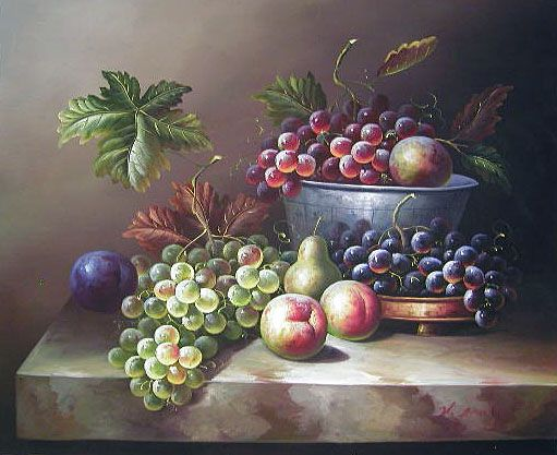 beautiful still life oil paintings | Yessy > A ART > ORIGINAL OIL PAINTINGS > Fruits Still Life