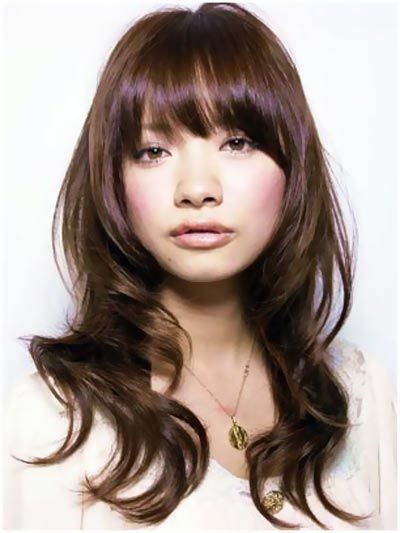 medium haircuts bangs layers 1000 ideas about layered bangs hairstyles on 4988 | 4764a22397b752a982c97d2d262e0ce5