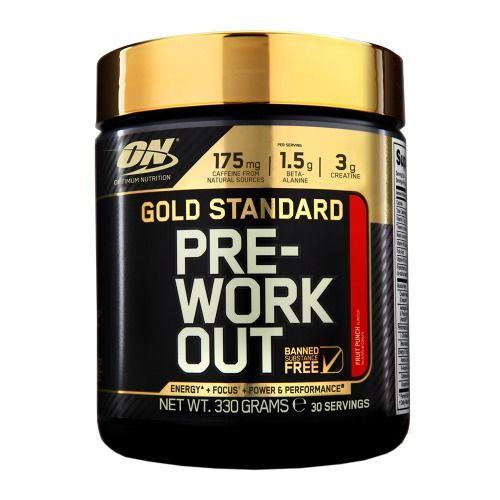 Gold Standard Pre-Workout 30 servings - Pré-treinos para exercícios de resistência | Optimum Nutrition
