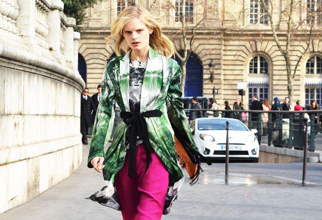 Dress/coat + print: Fashion Week, Street Style, Fall 2012, Fashion Inspiration, Style File, 2012 Rtw