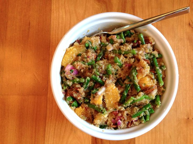 Healthy lunches, Quinoa salad and Asparagus on Pinterest