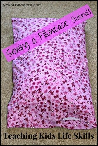 Sewing is a great skill for tweens and teens to have. A pillowcase is a great diy project idea for those who are new to sewing on a machine. The stitching is easy, yet you still learn a lot of techniques. Easy tutorial.