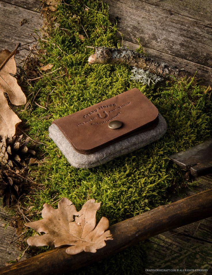Wool Felt Cardholder & Wallet   Wood brown