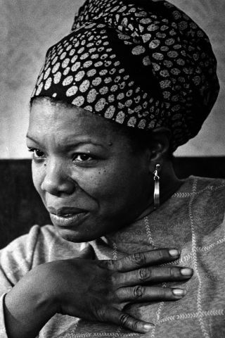 Great female writers with great style too: Maya Angelou.