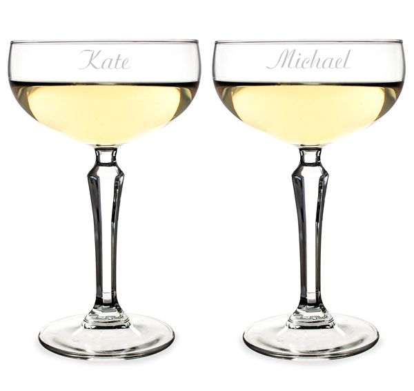 Champagne Coupe Toasting Flutes