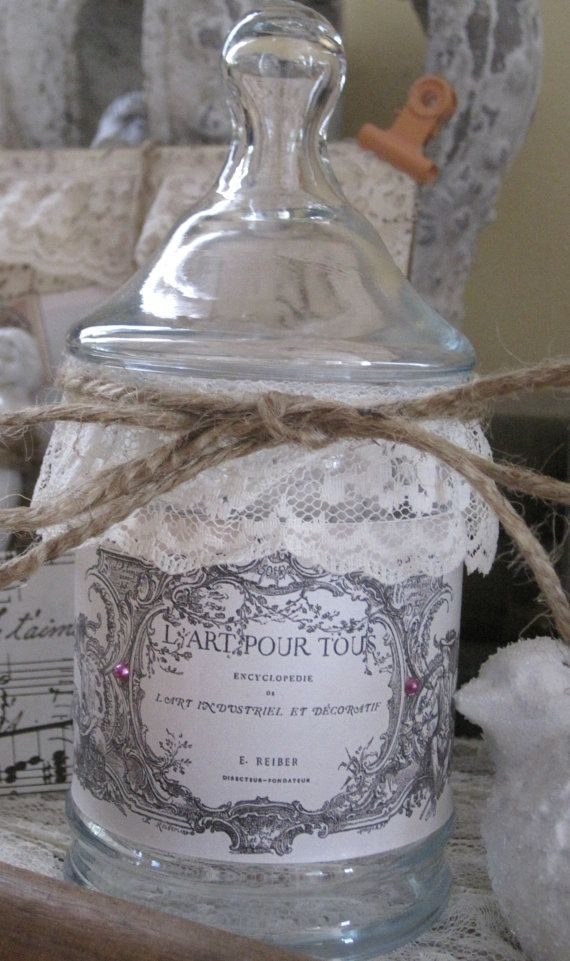 french market apothecary jar