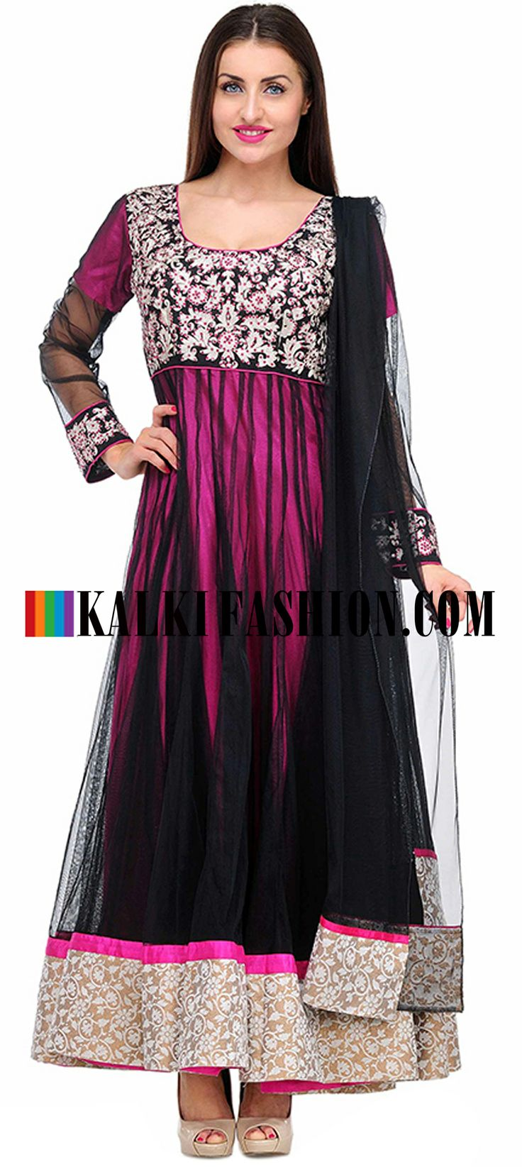 Buy Online from the link below. We ship worldwide (Free Shipping over US$100)  http://www.kalkifashion.com/full-sleeve-black-embroidered-anarkali-suit-set.html