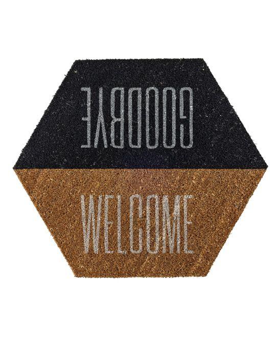 'Welcome Goodbye' Coir Doormat