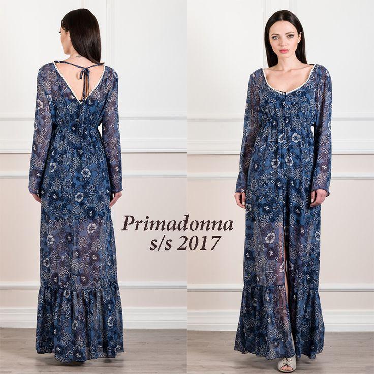 #Φόρεμα_καφτάνι_maxi_από_μουσελίνα. Για αέρινες και πολύ εντυπωσιακές εμφανίσεις.www.primadonna.com.gr