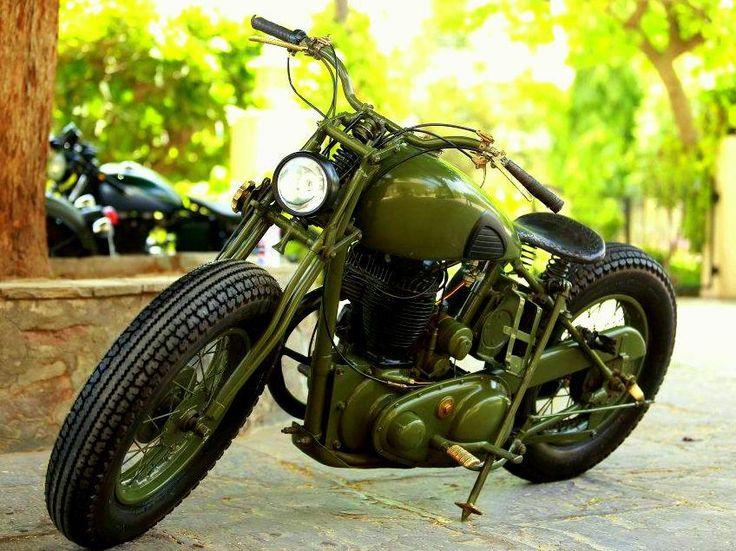 Restored and Customized 1942 BSA M-20 by Rajputana Custom Motorcycles