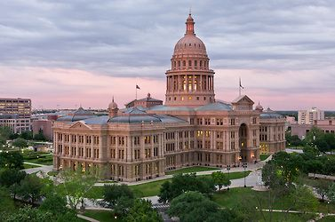 Austin, Texas Capital Building at Sunset