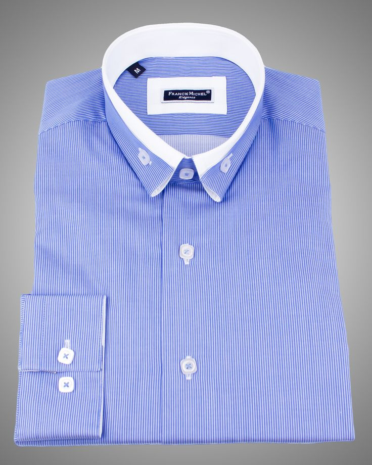 MEN'S REVERSE COLLAR SHIRTS - ANDREA 2 BLUE Just At $129.00