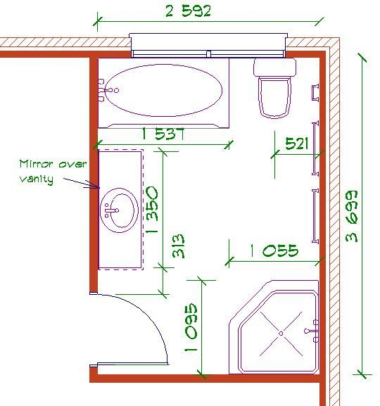 38 best images about r no salle de bain on pinterest coins pocket doors and bathroom layout Bathroom floor plan layout tool