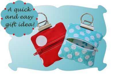 Key Fob Square Change Purse In The Hoop -- I am going to have to buy this pattern.  TOO cute!
