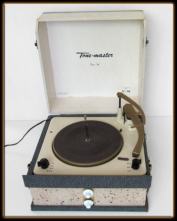 60s Tone Master Super 88 Portable Record Player by MilosModern, $139.95