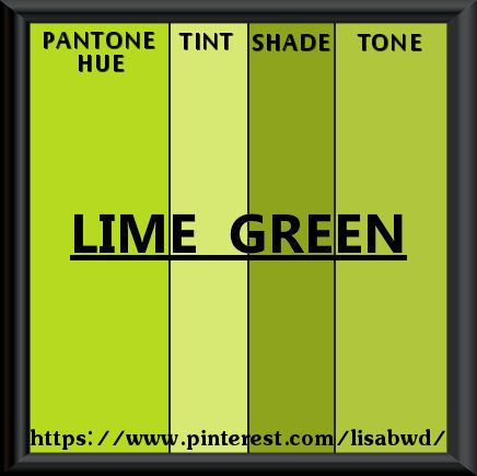 Pantone Seasonal Color Swatch Lime Green For The Of Eire Season Colors Swatches