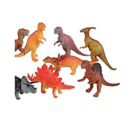 Private Island Party - Dozen Jumbo Dinosaurs Bulk 6 Inches Long 9127 ...