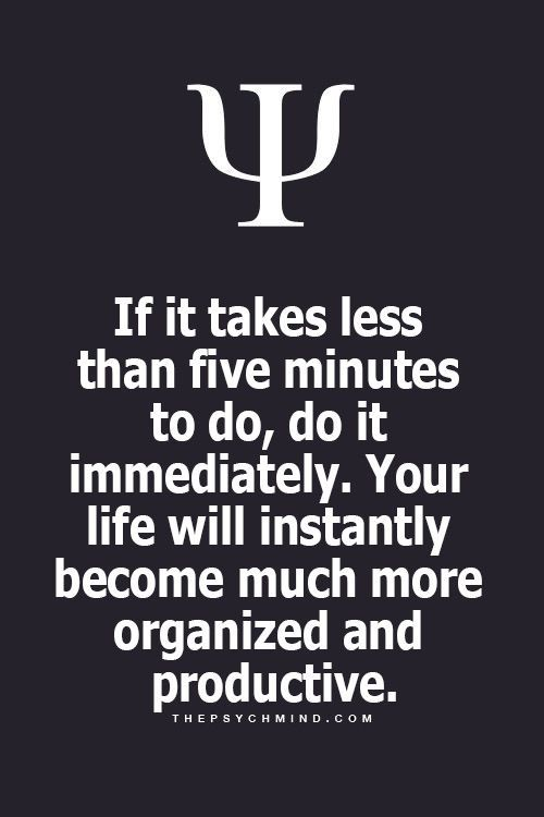 I love this, just get on and do those quick things and you somehow have more free time
