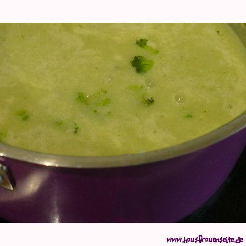 Brokkolicremesuppe aus Brokkolistielen - Rezept mit Bild ein Rezept für die leckere Verwertung von Brokkoliabfällen vegetarisch vegan laktosefrei