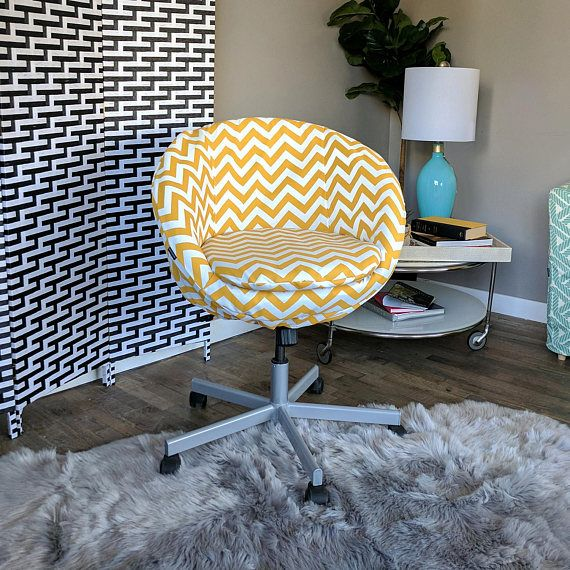 Yellow Chevron IKEA SKRUVSTA Chair Slip Cover