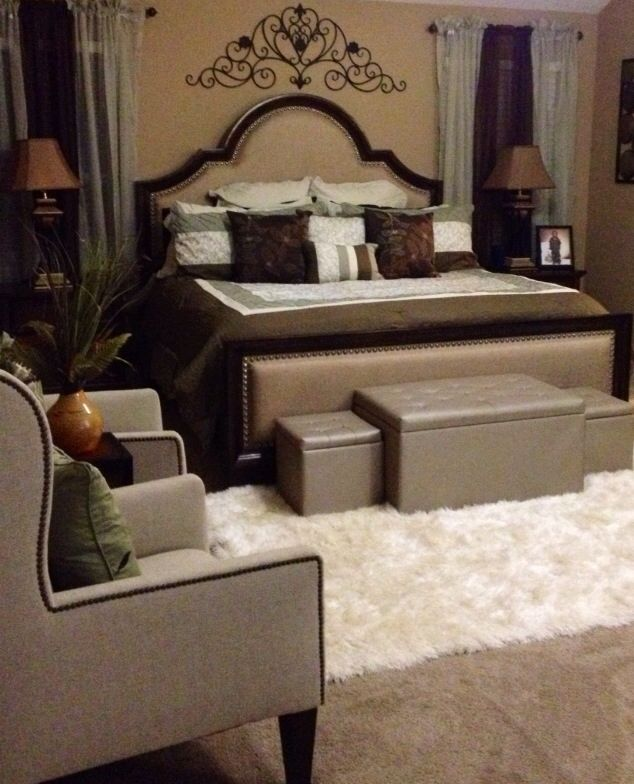 romantic earth tone master bedroom