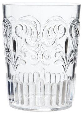 Transparent Tumbler With Raised Design - traditional - Everyday Glassware - ZARA HOME