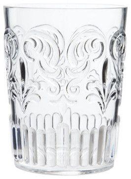 Transparent Tumbler With Raised Design - traditional - Everyday Glassware - ZARA HOME