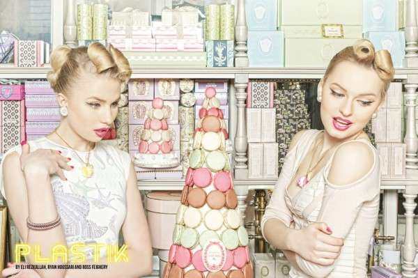 A dessert-lovers dream describes the PLASTIK Magazine 'The Spring Ladies Club' editorial in a nut shell. The sugar-laced scene was shot by Ryan Houssari, Eli Rezkallah and Ross Feigher in the famed French Laduree pastry shop.