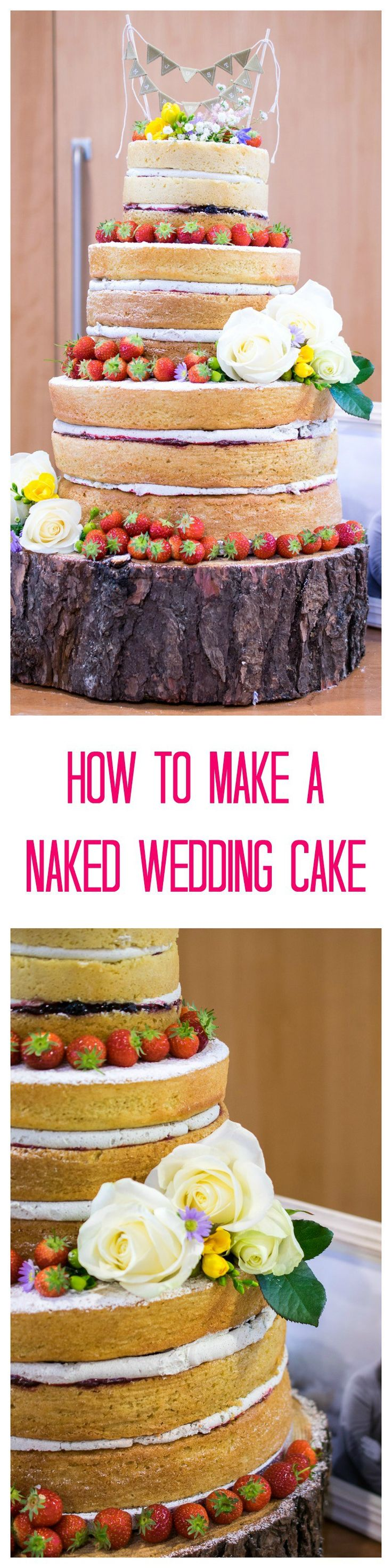 how to make a naked wedding cake