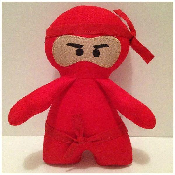 Red ninja softie toy