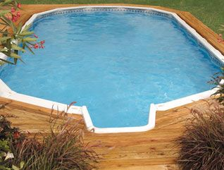 Doughboy brand in-ground pool for a fraction of the cost of a traditional in-ground pool.