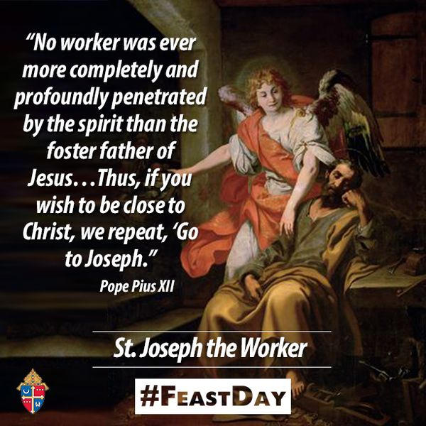 Happy #FeastDay of St. Joseph the worker! #pray4us!