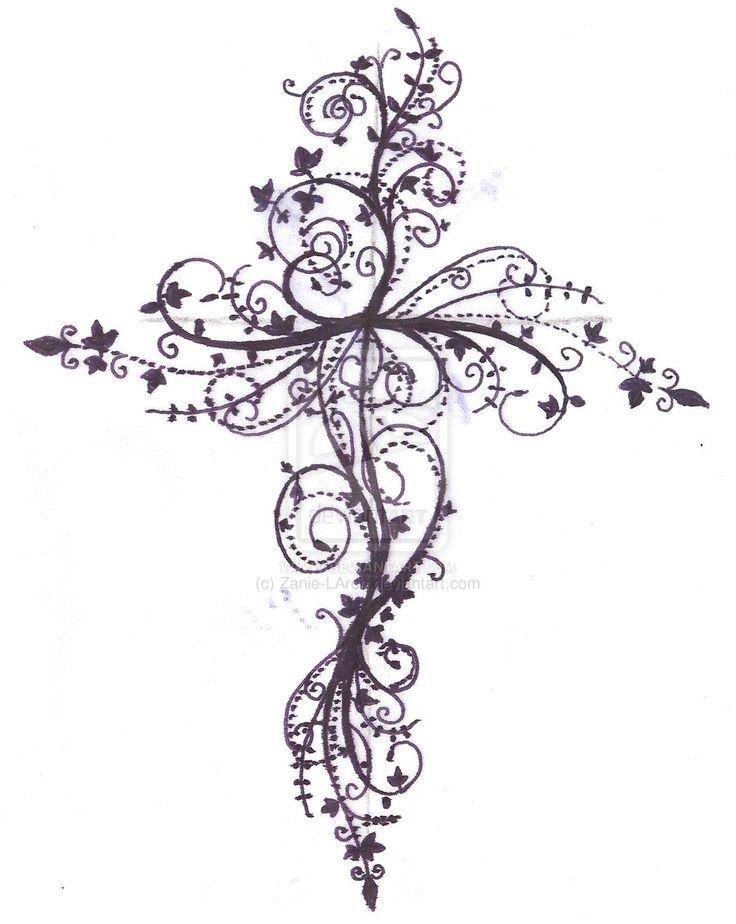 tattoos of crosses   cross tattoo design by zanie larch designs interfaces tattoo design ...