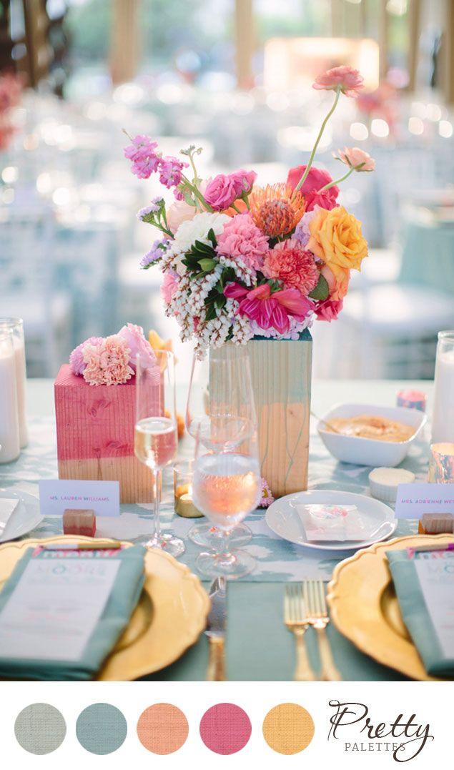 Summer Wedding Color Palette || Wedding Colors PHOTO SOURCE • JOIELALA