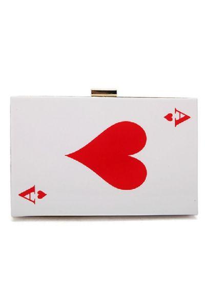 Cute Card Pattern Clutch Bag