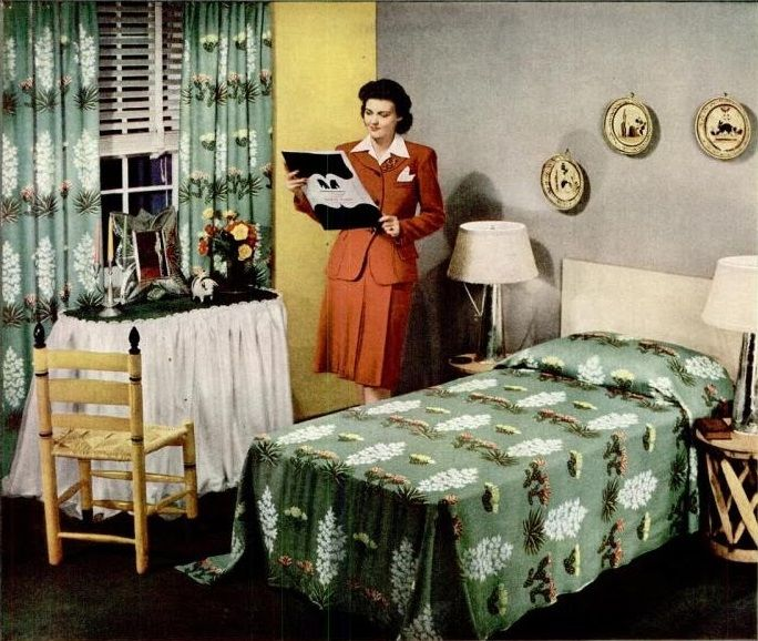123 best 1940s Bedroom images on Pinterest | Kiss, Mid century and ...
