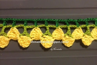 Adorable sunny crochet border with chart and pictorial!