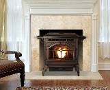 Traditional looking pellet stove