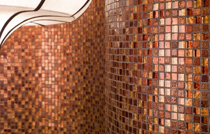Dune Hermes mosaic mix of glass, stone, and resin/metal
