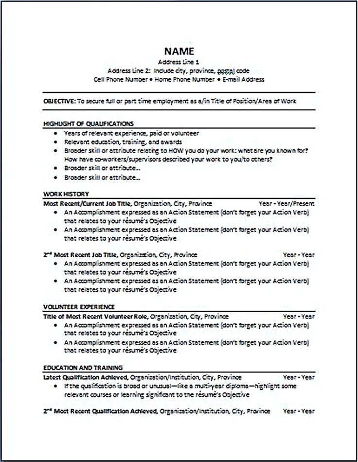 The 25+ best Job resume format ideas on Pinterest Cv format for - most recent resume format