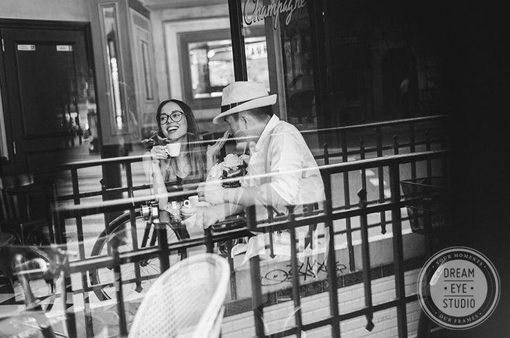 http://dreameyestudio.pl/  #dreameyestudio #paris #coffee #engagement #indoorsession #photoshoot