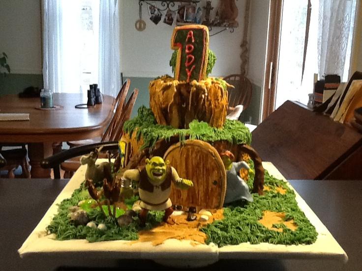 Shrek Cake for my granddaughter's 1st birthday