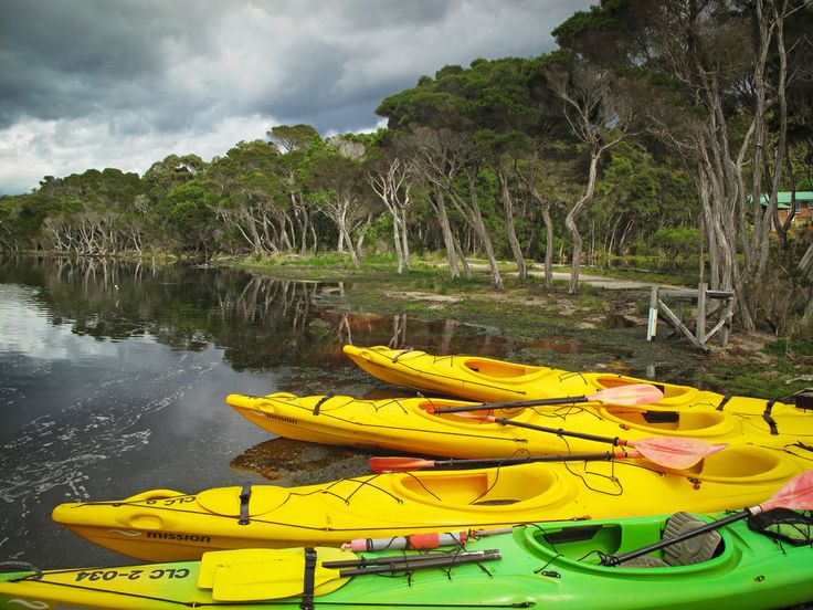 Guests of the Bay of Fires Lodge can kayak the Ansons River. #Tasmania #travel #jetsettering #Australia