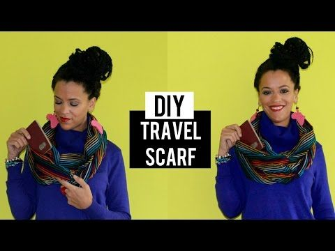 DIY Travel Infinity Scarf   A Clever Way to Hide your Passport - YouTube