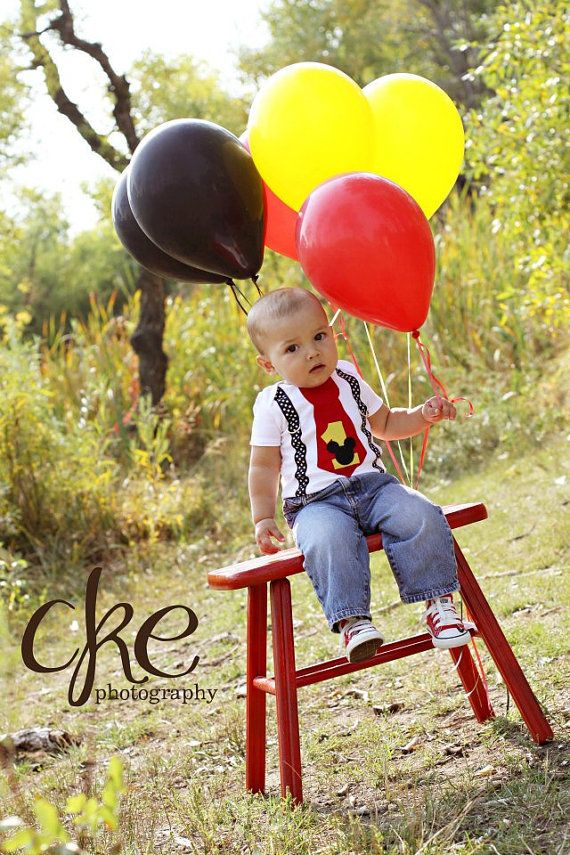 Mickey Mouse First Birthday Outfit READY TO SHIP by HomeArtsBoerne