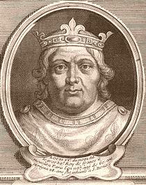 Louis VI le Gros (1081-1137). Fils de Philippe Ier et de la reine Berthe. Il fut associé par son père au gouvernement en l'année 1100, et lui succèda au mois de juillet 1108. Louis VI monta sur le trône n'ayant que des domaines peu considérables, séparés les uns des autres par des fiefs qui appartiennent à des seigneurs rivaux. il eut à combattre son demi- frère Philippe, comte de Mantes. il comptait parmi ses vassaux Henri Ier, roi d'Angleterre, et duc de Normandie.