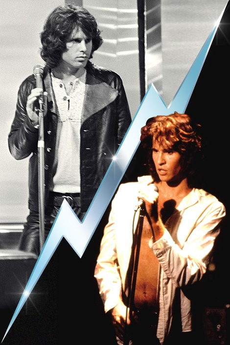 Val Kilmer as Jim Morrison. seriously uncanny resemblance... yumm