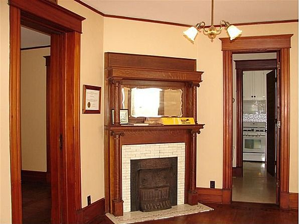 This fireplace was designed to burn coal...the coal room in the basement still has coal dust on the thick rock walls.