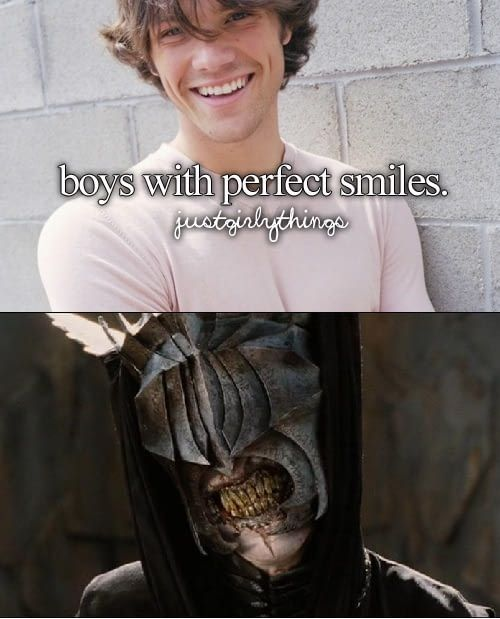 The perfect smile.. you cannot even compare Jared Padalecki to this being. Find another damn picture then ruin it. Not Jared. Never Jared. (But funny as hell lmao)