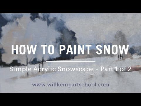 Free online acrylic painting videos for beginners. Step-by-step video tutorials for acrylic painting